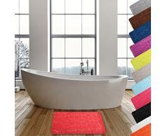MSV Alfombra de Baño de Espuma, Diseño Piedras, PVC, Rojo, 40x20x20 cm