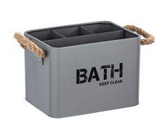 Wenko 23702100 Gara - Caja para Cuarto de baño (4 Compartimentos), Color Gris