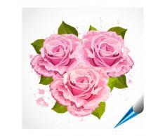 FoLIESEN Adhesivo para azulejos para baño y cocina – 15 x 15 cm – Diseño Ramo de rosas – Baldosas de 10 pegatinas para pared azulejos