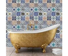 WALPLUS - Adhesivo Decorativo para Pared (120 x 120 cm), diseño de Azulejos españoles
