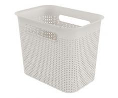 Rotho Brisen - Caja de Almacenamiento (7 L, plástico, Polipropileno, 7 L, 26,2 x 18 x 21 cm), Color Arena