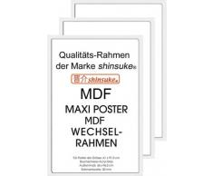 Empire Merchandising 540089 394682 - Marco para pósteres (3 unidades, 61 x 91,5 cm, tablero DM, dimensiones exteriores 96,4 x 65,8 cm), color blanco