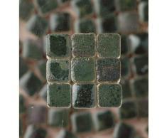 MosaicMicros 5 x 3 mm 10 G 100 Piezas Azulejos de Mosaico de cerámica esmaltado Mini, Color Verde