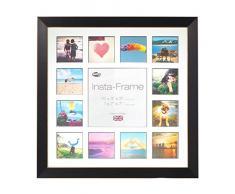 Inov8 16 x 40,64 cm Insta-Frame Marco para Instagram 13/de Estampado a Cuadros de Fotos con paspartú Blanco y Blanco con Borde, Madera de Fresno
