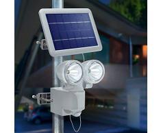 Esotec Solar Foco Duo de alimentación II, 230 lm, 2 W panel solar con sensor de movimiento 102418