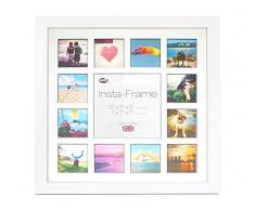 Inov8 16 x 40,64 cm Insta-Frame Kayla Marco para Instagram 13/de Estampado a Cuadros de Fotos con paspartú Blanco y Negro con Borde, 2 Unidades, Blanco