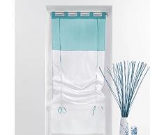 Estor visillo recto (45 cm) Bicolor Azul