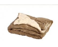 Comptoir du Linge MOU18TAU - Manta para cama, 220 x 220 cm, color beige