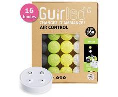 Guirnalda luminosa Bolas de algodón LED USB - Control remoto inalámbrico - Cargador USB dual 2A incluido - 4 intensidades - 24 bolas - Forest