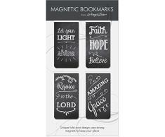 Angelstar Rectangular Pizarra magnética Bookmark Pack de 4Unidades