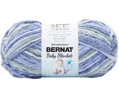 Bernat Manta para bebé, Bonito Color Azul, 300g
