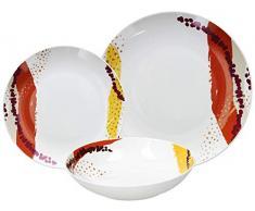 Tognana ME070185586 Dakar - Vajilla (18 piezas, porcelana)