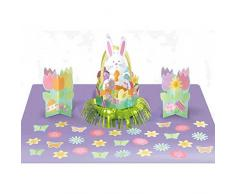 Amscan Kit de decoración de Mesa de Pascua