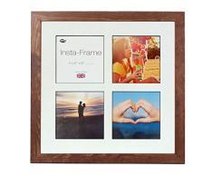 Inov8 16 x 40,64 cm Insta-Frame Kayla Marco para Instagram 4/de Estampado a Cuadros de Fotos con paspartú Blanco y Negro con Borde, 2 Unidades, diseño de Roble
