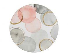 Creative Tops - Manteles Individuales (29 cm, Base de Corcho), diseño de esferas Doradas