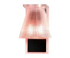 Kartell 9120ro lámpara de pared plástico, color rosa