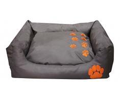 Bunny Business teflón perro rectangular mascota cama suave y cálido gato/perro cojines y camas, grande, azul _ P