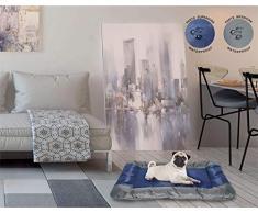 Sogni e capricci Tapete Totalmente Impermeable para Perros y Gatos, Azul Oscuro, 80x65cm, poliéster