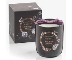 RITZENHOFF Aroma Naturals Noir Vela Aromática, Rosewood Macaron, en del Paquete de Regalo