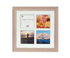 Inov8 16 x 40,64 cm Insta-Frame mosaico de marcos de fotos para Instagram 4/de estampado a cuadros de fotos con paspartú blanco y negro con borde, 2 unidades, se debe lavar a suave piedra