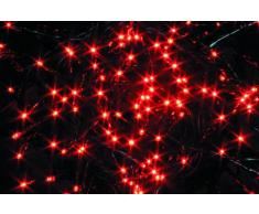 House of Fun 96 de luces LED para cadena, rojo, 89 cm