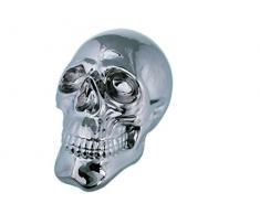 Out of the blue De Gran tamaño de Calavera de Alrededor de 30 cm de cerámica con diseño de Dorado y Plateado de la Escultura Decorativa de cráneo de Muertos, cerámica, Plata