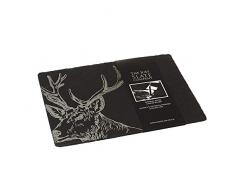 Just Slate JS/CB/R/S - Tabla para queso, diseño de ciervo, color negro