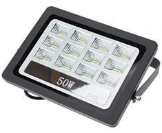Foco proyector led exterior 50W 6000K negro 220V