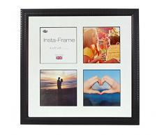 Inov8 16 x 40,64 cm Insta-Frame Marco para Instagram 4/de Estampado a Cuadros de Fotos con paspartú Blanco y Negro con Borde, 2 Unidades, Ripple Negro