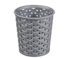CURVER Papelera 00717-087-00 cesto Multiusos My Style - L, 1,5 L, Plata