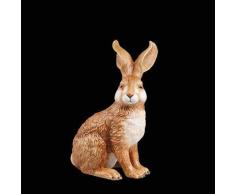 Goebel Ostern Figura de Conejo de Pascua, Porcelana, marrón, 10.50x8.50x15 cm