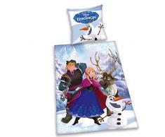 Herding 4679008050 Frozen Disney Brave ropa de cama, funda de almohada, 80 x 80 cm y funda de edredón, 135 x 200 cm, franela/castor