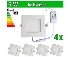 4 x LED SMD 2835 LEDVero maikai Panel 6 W cuadrado blanco frío de la lámpara luz de techo del punto