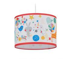 Relaxdays Lámpara de Infantil de Techo, para niños & niñas, Zoo, Animales, E27, Iluminación Colgante, 126 x 30 cm