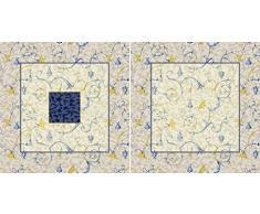Bassetti 9275539 Oplontis. v9 N – Funda de cojín (satén, multicolor, 60 x 60 x 0,5 cm