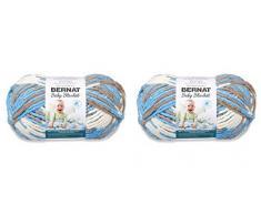BERNAT - Manta para bebé (2 unidades, 300 g cada ovillo, 600 g)
