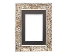 Memory Box Amplio Marco de Fotos y pósteres con plexiglás de poliestireno irrompible para una Alta claridad. Montura de Color Blanco con Negro.