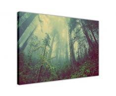 CANVAS IT UP Bosque de Niebla Paisaje Pared Arte Cuadros en Lienzo con Marco Prints tamaño: A3 – 16 x 12 (40 cm x 30 cm)