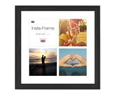 Inov8 16 x 40,64 cm Insta-Frame Austen Marco para Instagram 4/de Estampado a Cuadros de Fotos con paspartú Blanco y Blanco con Borde, Gris