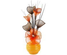 Diseño de flores de 791971 - 813 32 cm jarrón con naranja artificiales, Naranja