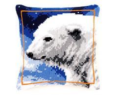 Vervaco - Kit para cojín de punto de cruz, diseño de oso polar, multicolor