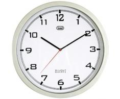 Trevi OM 3310 - Reloj de pared (AA, Gris, Color blanco, 350 mm)