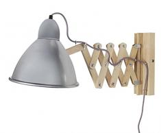 Tosel 31470armónica aplique madera haya/chapa acero natural/aluminio 440x 230x 230mm