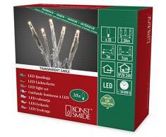 Konstsmide guirnalda de Micro LED, 35 diodos de luz blanca cálida, 24 V transformador interno, cable transparente 6352-123