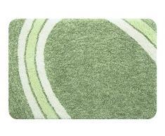 Spirella colección Curve, Alfombrilla de Ducha 60 x 90,100% Polyester, Microfibra,Verde, grün, 90 x 60 x 30 cm