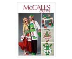 McCalls Patterns MC 6860 - Patrón con instrucciones para coser disfraces y decoración de Navidad (talla única), multicolor