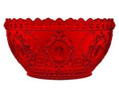 Bacci Baci Ensaladera, acrílico, acrílico, Rojo, 25 x 25 x 13 cm