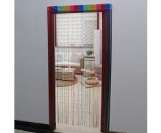 JVL Cortina para Puerta, diseño de arcoíris, 200 x 90 cm Aprox, Talla única