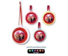 ZEP Led Christmas Ball - Adorno con foto para árbol de Navidad, plástico, color
