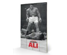 Muhammad Ali Pyramid International LW10461P - Cuadro sin marco con diseño The Greatest (producto oficial, 45 x 76 cm), color blanco y negro